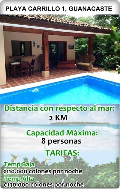 Casas de playa en costa rica alquiler de villas en costa for Casas en alquiler en la playa con piscina