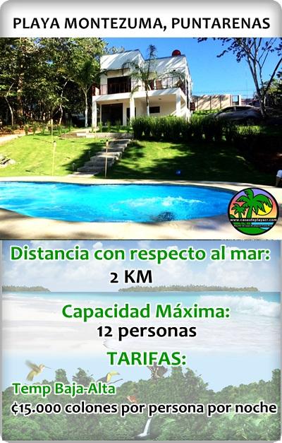 Casas para vacacionar en Puntarenas Montezuma Costa Rica