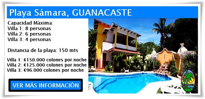 Villas equipadas en Costa Rica playa Samara, Frente al Mar