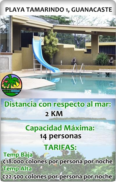 Casas para vacacionar en Playa Tamarindo Guanacaste